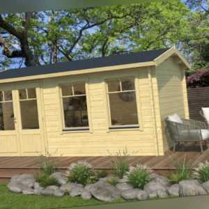 Topgarden Gartenhaus ADRIAN, 500x300 cm ISO, 44 mm Doppelnut, ohne Boden