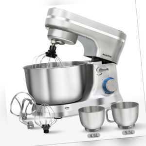 Küchenmaschine Teig-und Knetmaschine Rührschüssel 5,5L, 3 Rühr-...