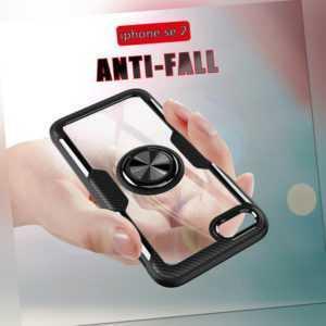 Hülle iPhone SE 2020 7 8 Cover Panzer Handy Magnet 360° Ring Case Schutz Tasche