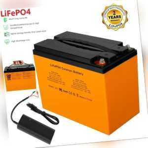LiFePO4 Akku 42Ah 12.8V für Camping Caravan Wohnmobil Bootsbatterie+Ladegerät