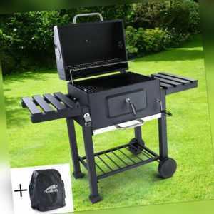 BBQ XL Holzkohle Grillwagen RX850 Grill Smoker Barbecue für Garten Terrasse