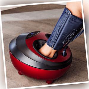Fußmassagegerät Fußmassage Fußreflexzonen-Massagegerät mit Waden Manschetten
