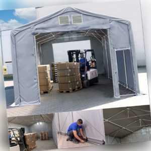 Lagerzelt 3x6-8x16 Zelthalle mit HOCHZIEHTOR - durchgehende Plane - Wasserdicht