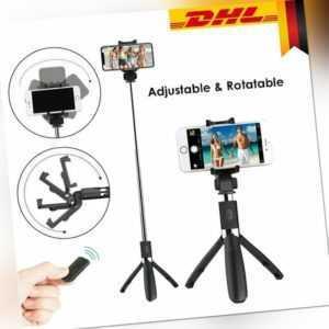 3in1 Bluetooth Selfie Stick Stange Stativ Monopod Smartphone Handy Halterung DHL