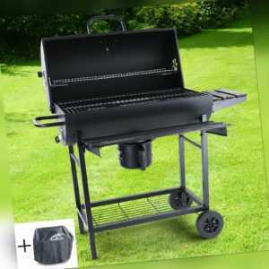 BBQ XL Holzkohle Grillwagen RX870 Grill Smoker Barbecue für Garten Terrasse