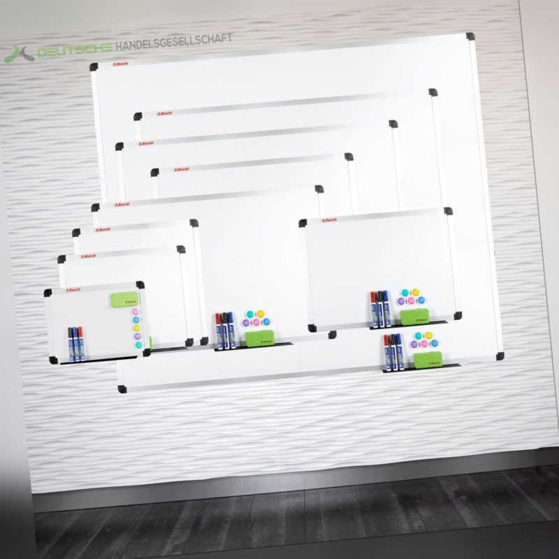 Whiteboard stabil Größen Magnettafel Schreibtafel Magnetboard Memoboard Pinnwand