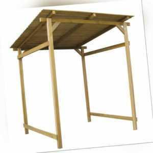 Gartenüberdachung Holz Unterstand Holzunterstand für Gartengeräte Kaminholz NEU