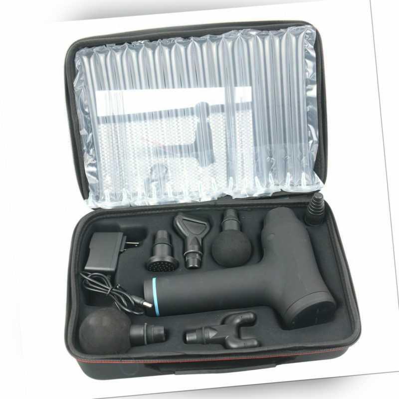 Elektrisches Massagepistole Massagegerät mit 6 Köpfe 30Gang Steuerung Hypervolt
