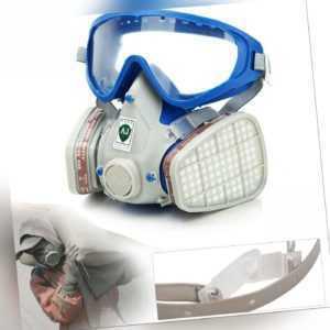 Atemschutz maske Gasmaske Staubmaske Lackiermaske Mit Wechselfiltern Full Face