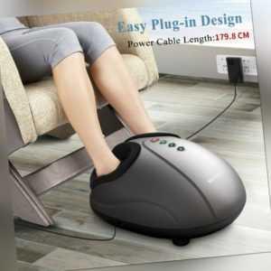 MARNUR Fußmassagegerät mit Wärmefunktion Shiatsu Fussmassage Elektrisch Kneten