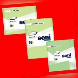 Krankenunterlagen Seni Soft Basic-Alle Größen-Diskreter Versand-Neutral Verpackt