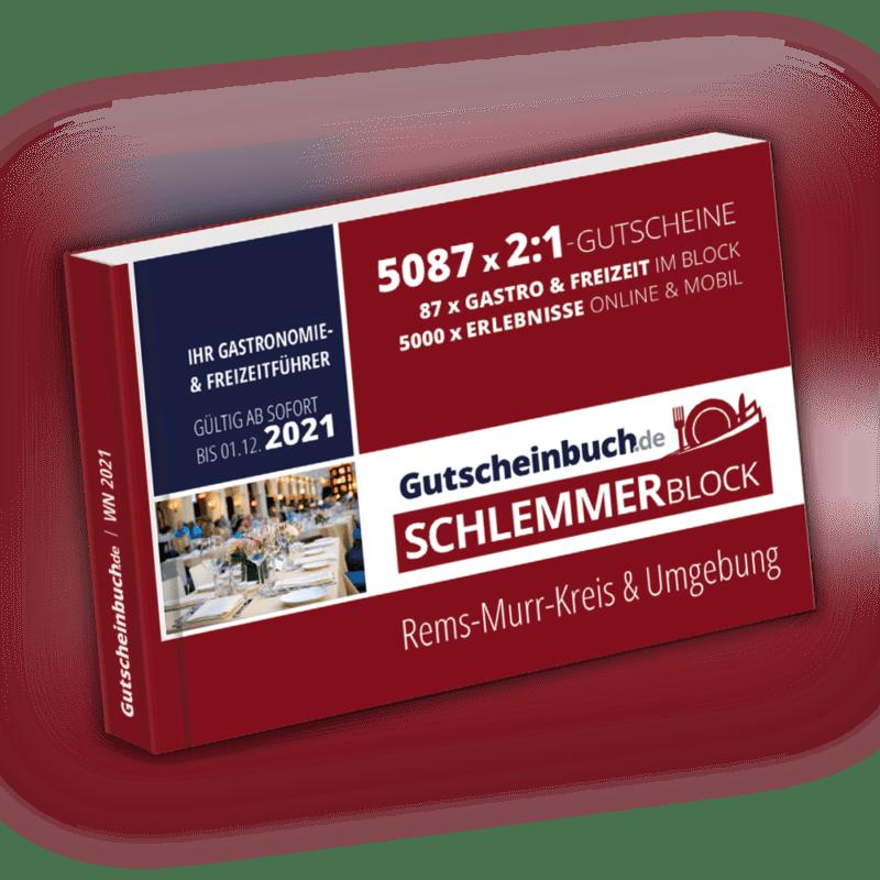 Gutscheinbuch.de Schlemmerblock Rems-Murr-Kreis & Umgebung 2021
