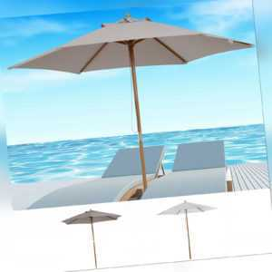 Outsunny Sonnenschirm Sonnenschutz Gartenschirm 3-stufig Bambus 180/㎡ Polyester