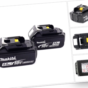 Makita Akku Power Set 18V 2x Akku 5,0Ah BL1850B ( 197280-8 ) Doppelpack