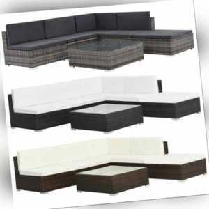 vidaXL Gartenmöbel 16-tlg. Poly Rattan Lounge Sofa Sitzgruppe mehrere Auswahl