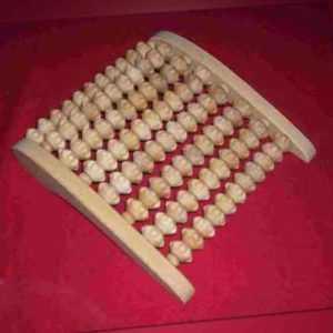 Massageroller,  mit 8 Holzwalzen Massage Gerät  Füsse