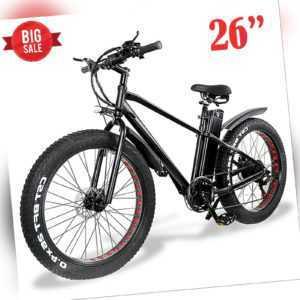 "Elektrofahrrad 26"" E-MTB Mountainbike E-Bike,48V 15Ah 45km/h Akku schwarz DE"