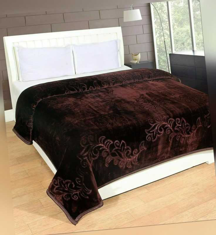 Decken Solid Farbe Ultra Weich Blumenmuster Einzelbett Schwer Nerz