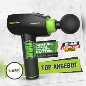 Donnerberg Massagepistole Massagegerät Elektro Massage Gun SportGun + 6 Köpfe