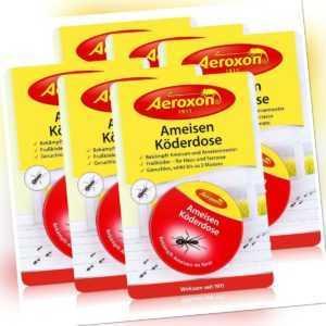 Aeroxon Ameisen Köderdose - Fraßköder für Haus und Terrasse (6er Pack)