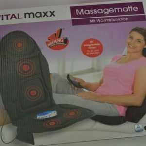 Vital Maxx Massagematte Wärmefunktion Schwarz Timer 5 Programme Rücken
