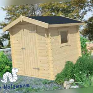 19 mm Gartenhaus 200x200 cm Blockhaus Gerätehaus Holzhaus Holz Schuppen
