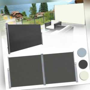 Seitenmarkise Windschutz Sichtschutz Sonnenschutz Markise Camping Terrasse Alu#