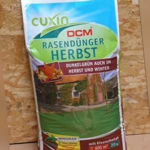 Cuxin Rasendünger Herbst 20 kg NPK-Dünger 8-4-15 Stickstoff Kalium Eisen Spezial