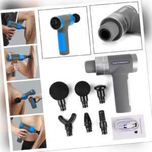 6 Köpfe LCD Electric Massage Gun Massagepistole Massager Muscle Massagegerät DE