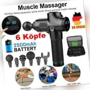 6 Köpfe Muskel Massagegerät Muscle Massager Gun Elektrisches LCD Massagepistole