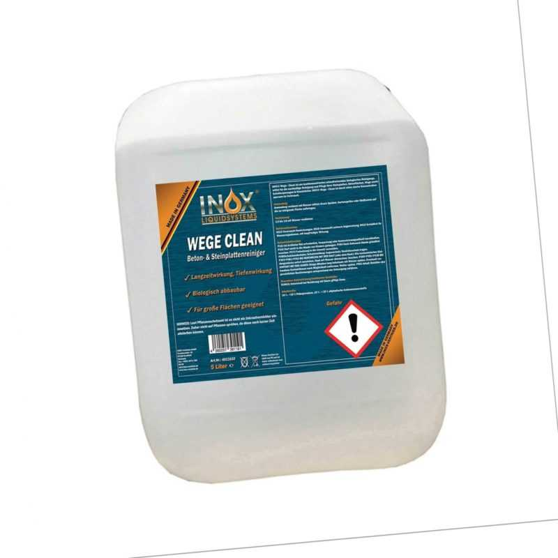 INOX® WegeClean, 5L - Reiniger Unkrautvernichter Wege Steinplatten Pflaster
