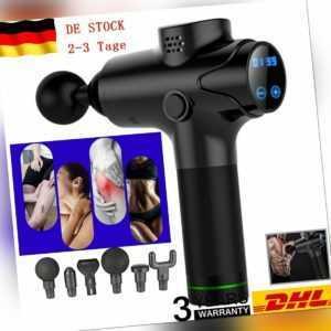 Electric Massage Gun Massagepistole Massager Muscle Massagegerät mit 6 Köpfe LCD