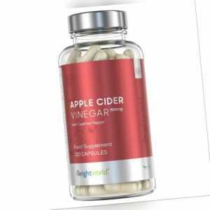 Premium Apfelessig Kapseln - Hochdosiert mit 1027mg zum Abnehmen
