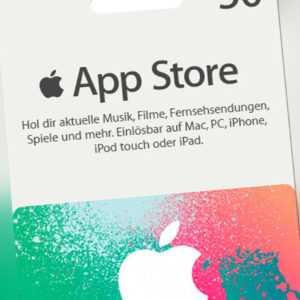 iTunes 50 Euro Prepaid Guthaben Karte - Apple Store Deutschland Gift Card - DE