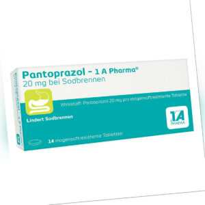 Pantoprazol-1A Pharma 20mg bei Sodbrennen 14stk PZN 06486311