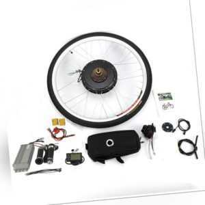 "28"" E-Bike Hinterrad Umbausatz 1000W 48V LCD Elektro-Fahrrad Conversion Kit NEU"