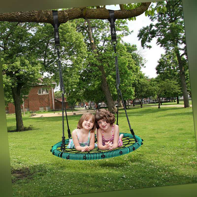 Nestschaukel Tellerschaukel Garten KInderschaukel+Verstellbaren Seil Bis 300Kg