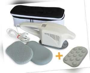 MASPO Vibramat de Luxe mit 3 Massageaufsätzen PROFI Großflächenmassagegerät