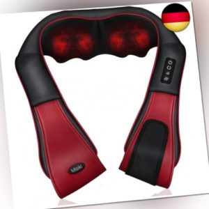Misiki Massagegerät Shiatsu Nackenmassagegerät mit Wärmefunktion Elektrisches Ma
