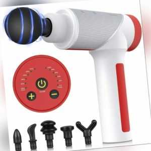 Electric Massage Gun Massagepistole Massager Muscle Massagegerät mit 6 Köpfe DE