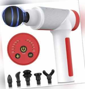 Electric Massage Gun Massagepistole Massager Muscle Massagegerät mit 6 Köpfe DE