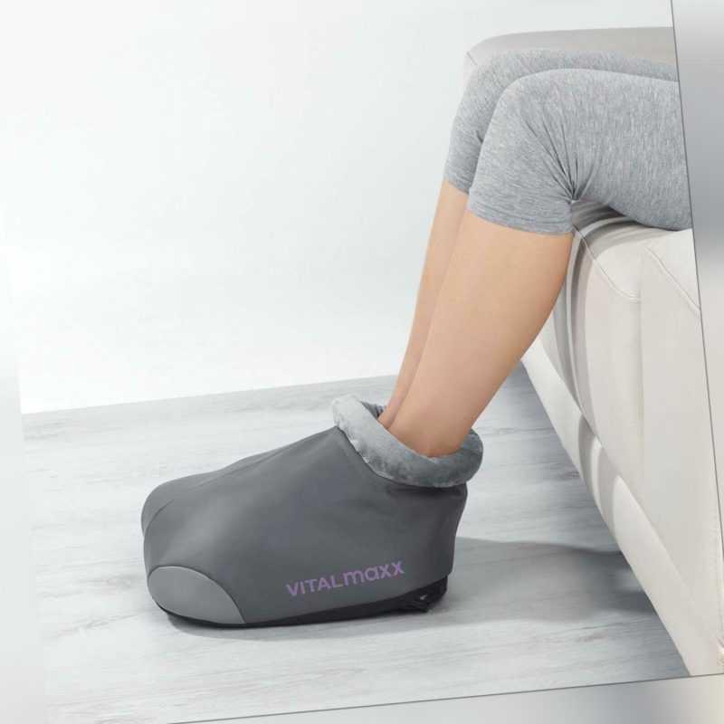 VITALmaxx Shiatsu Massagegerät Füße Grau Wärmefunktion Fernbedienung Entspannung