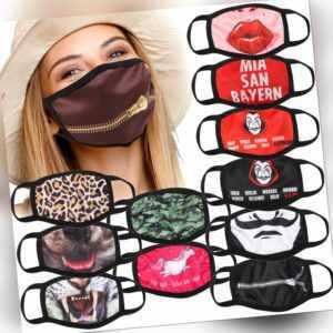 Stoffmaske mit Motiv - waschbarer Gesichtsmaske mit Filtereinlage