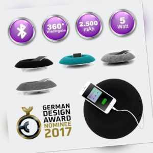 ARINA Bluetooth Lautsprecher von MUEMMA® Powerbank Feature 360°Soundbar Musikbox