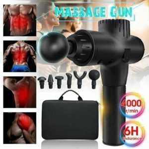 Muscle Massage Gun Sport Therapie Tiefe Massager Körper Entspannung Schmerzen EU