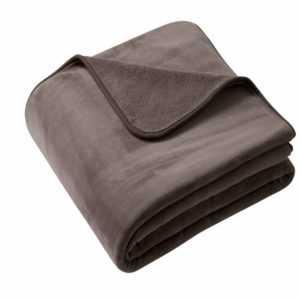 Biederlack Decke Wohndecke Pure Soft Farbe Braun 180x220cm mit