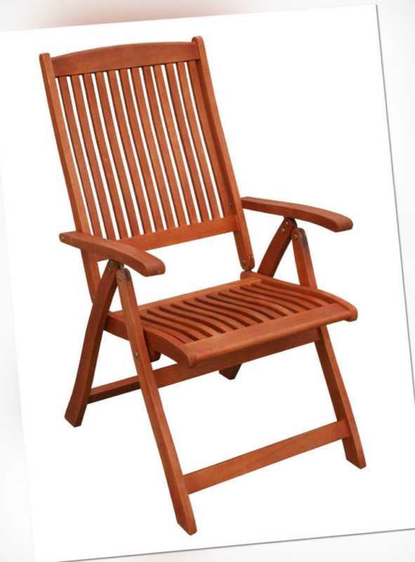 KMH® Hochlehner Gartenstuhl Gartenstühle Klappstuhl Klappstühle Holz Eukalyptus