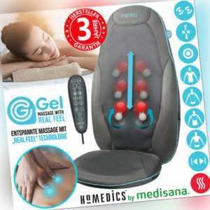 HoMedics Massage Auflage Shiatsu Sitz Massagesessel Rücken Nacken Gel Medisana