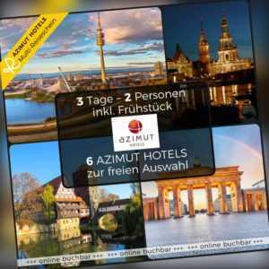 Multi Hotelgutschein Berlin Dresden Erding München 3 Tage AZIMUT Hotel für zwei