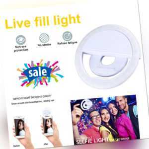 Selfie Licht Ringleuchte Handy Tablet Universell Ringlicht 36 LED Strahler Flash